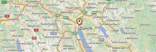 Carte Zurich - Suisse