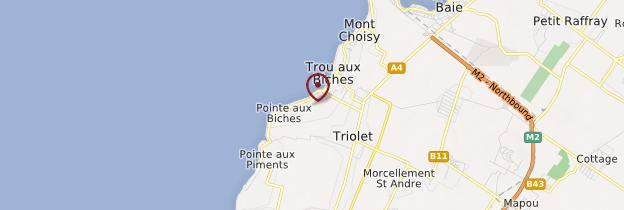 Carte Pointe aux Piments - Île Maurice, Rodrigues