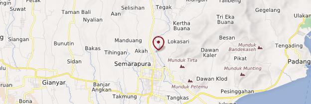Carte Klungkung (Semarapura) - Bali