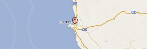Carte Geraldton - Australie