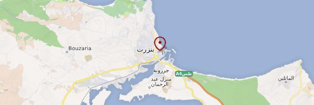 Carte Bizerte - Tunisie
