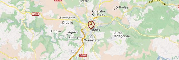 Carte Rodez - Midi toulousain - Occitanie