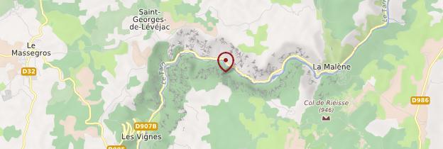 Carte Gorges du Tarn - Languedoc-Roussillon