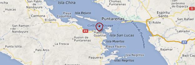 Carte Réserve naturelle absolue Cabo Blanco - Costa Rica