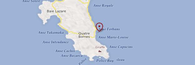 Carte Anse Forbans - Seychelles