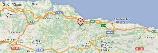 Carte Espagne Gijon.Mirador Del Fito Asturies Guide Et Photos Espagne