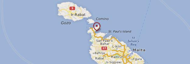 Carte Mellieha Bay - Malte