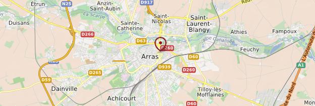 Carte Arras - Nord-Pas-de-Calais