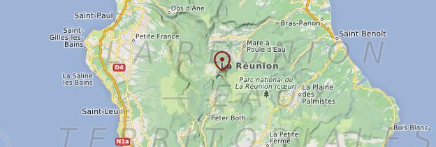 Carte Piton des Neiges - Réunion