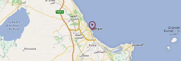 Carte Sousse - Tunisie