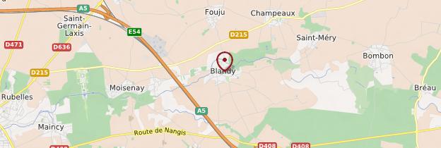 Carte Blandy-les-Tours - Île-de-France