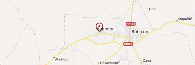Carte Abomey - Bénin