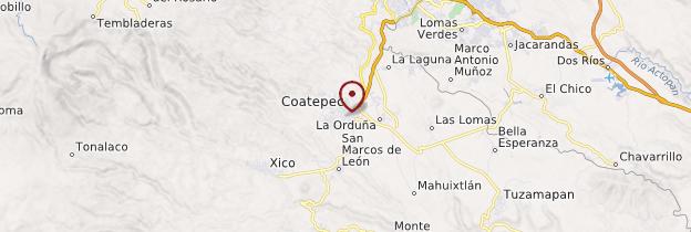 Carte Coatepec - Mexique