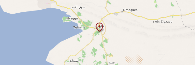 Carte Kebili - Tunisie