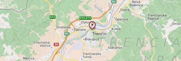 Carte Trenčín - Slovaquie