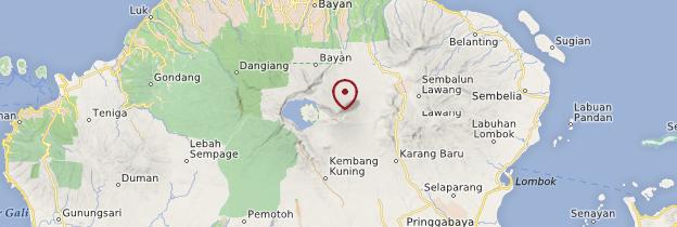 Carte Mont Rinjani - Indonésie