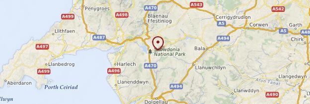 Carte Snowdonia National Park - Pays de Galles