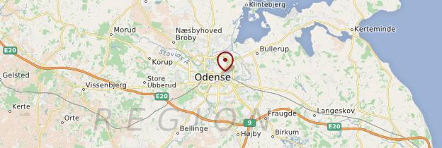 Carte Odense - Danemark
