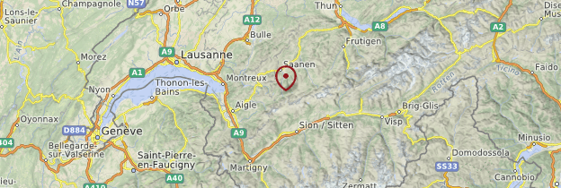 Carte Gsteig - Suisse
