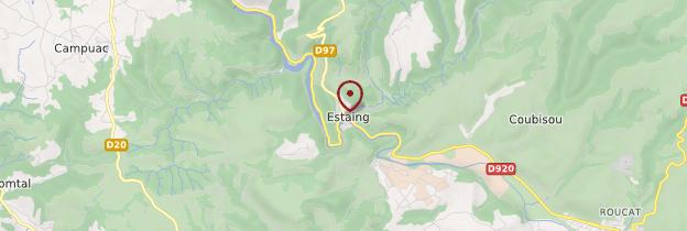 Carte Estaing - Midi toulousain - Occitanie