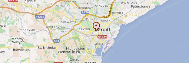 Carte Cardiff (Caerdydd) - Pays de Galles