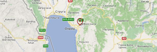 Carte Ohrid - Macédoine du Nord