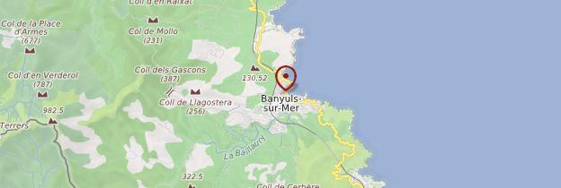 Carte Banyuls-sur-Mer - Languedoc-Roussillon