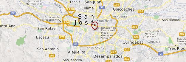 Carte San José - Costa Rica
