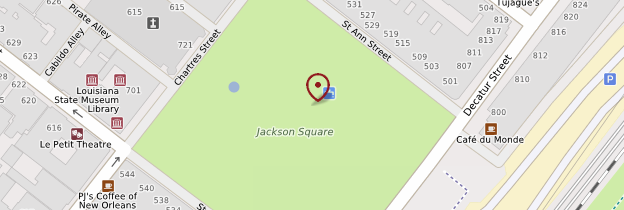 Carte Jackson Square - Louisiane