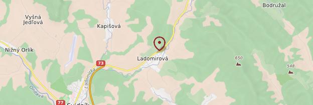 Carte Ladomirová - Slovaquie