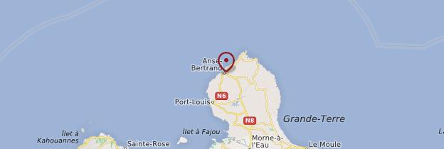 Carte Anse-Bertrand - Guadeloupe