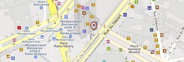 Carte Tour Montparnasse - Paris