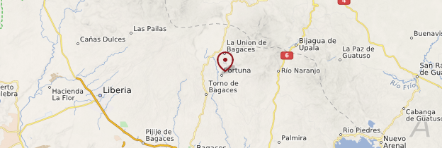 Carte La Fortuna - Costa Rica