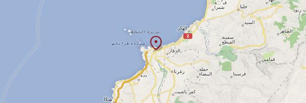 Carte Tripoli - Liban