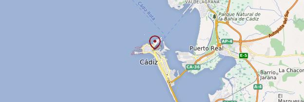 Carte Cádiz (Cadix) - Andalousie