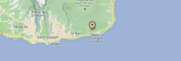 Carte Jardin des Parfums et des Épices - Réunion