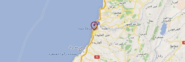 Carte Saïda - Liban