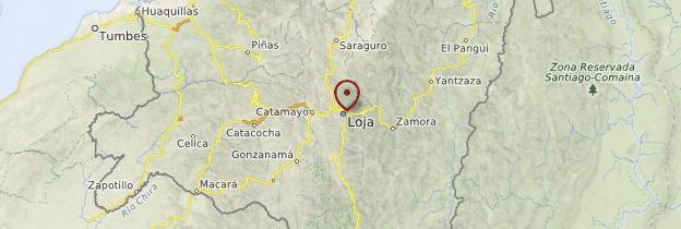Carte Loja - Équateur