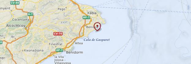 Carte Moraira - Espagne