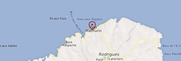 Carte Port Mathurin - Île Maurice, Rodrigues