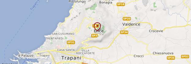 Carte Erice - Sicile