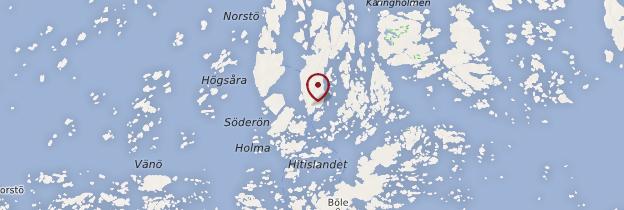 Carte Archipel de Turku - Finlande