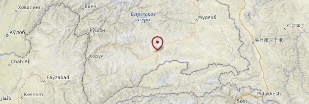 Carte Route du Pamir - Tadjikistan