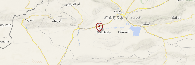 Carte Gorges de Selja - Tunisie