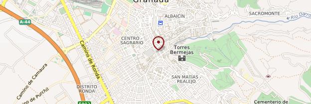 Carte Granada (Grenade) - Andalousie