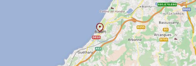 Carte Bidart - Pays basque et Béarn