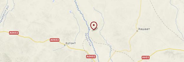 Carte Vallée de l'Orkhon - Mongolie