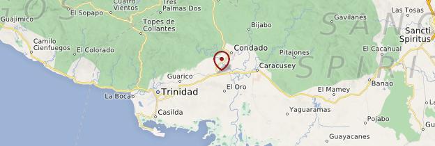 Carte Valle de los Ingenios - Cuba
