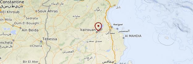 Carte Kairouan - Tunisie