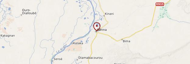 Carte Konna - Mali